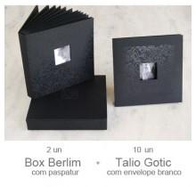 2  Box Berlim  + 10  Talio Gotic  + 10 Envelopes Branco
