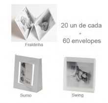 20 Sumo + 20 Fraldinha + 20 Swing + 60 envelopes